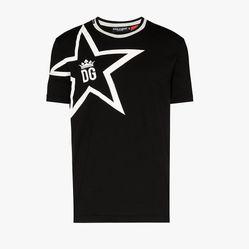 Áo Phông Dolce & Gabbana Star Logo Cotton T-Shirt Màu Đen