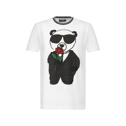 Áo Phông Dolce & Gabbana T- Shirt Họa Tiết Gấu Trúc Màu Trắng