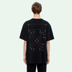 Áo Phông Off-White Backbone S/S Over T-Shirt Màu Đen