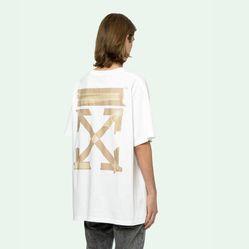 Áo Phông Off-White Tape Arrows S/S Over T-Shirt Màu Trắng
