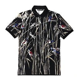 Áo Polo Dolce & Gabbana Màu Đen Họa Tiết