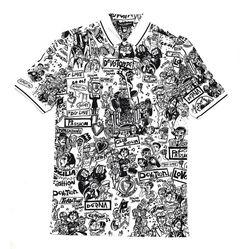 Áo Polo Dolce Gabbana T-Shirt Họa Tiết Trắng Đen