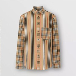 Áo Sơ Mi Burberry Classic Fit Patchwork Cotton Poplin Shirt