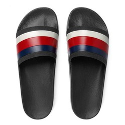 Dép Gucci Men's Pursuit 72 Rubber Slide Sandal Màu Đen
