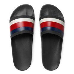 Dép Gucci Men's Pursuit 72 Rubber Slide Sandal Màu Đen Size 42