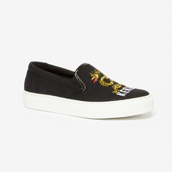 "Giày Slip On Kenzo ""Dragon"" Slips-on  Màu Đen"