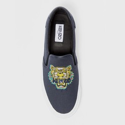 Giày Slip On Kenzo K-Skate 'Dragon Tiger' Màu Xám Size 39