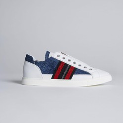 Giày Thể Thao Dsquared2 50's Rock Asylum Sneakers Màu Trắng
