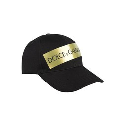 Mũ Dolce & Gabbana Men's Black Logo Tape Cap
