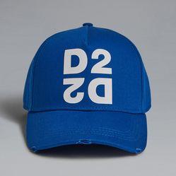Mũ DSquared2 Mirrored D2 Baseball Cap Màu Xanh Dương