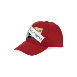 Mũ Dolce & Gabbana Men's Baseball Cap With Shiny Logo Tape In Red