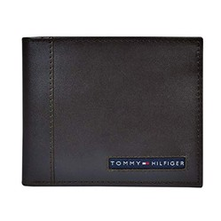 Ví Nam Tommy Hilfiger Men's Thin Sleek Casual Bifold Wallet with 6 Credit Card Pockets And Removable Id Window