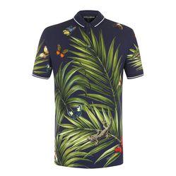 Áo Phông Dolce & Gabbana Men's T-Shirt Màu Xanh Navy Họa Tiết