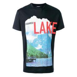 Áo Phông DSquared2 Men's Black Lake T-shirt Màu Đen
