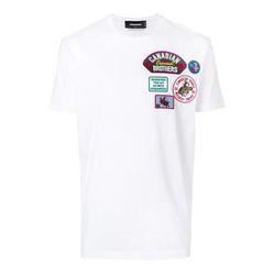 Áo Phông Dsquared2 Canadian Brothers T-Shirt Màu Trắng