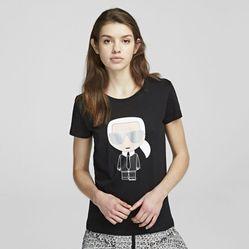 Áo Phông Karl Lagerfeld Ikonik Karl T-Shirt Màu Đen