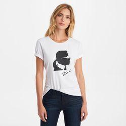 Áo Phông Karl Lagerfeld Silhouette Tee Màu Trắng