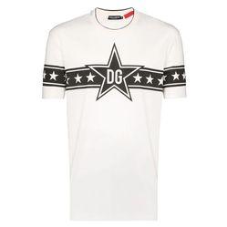 Áo Thun Dolce & Gabbana DG Star Logo T-Shirt Màu Trắng