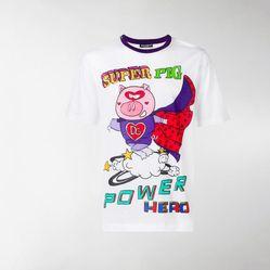 Áo Thun Dolce & Gabbana Super Pig Print T-Shirt G8HV4THH7E3HWW59 Màu Trắng