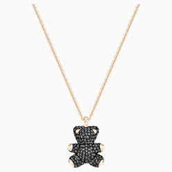 Dây Chuyền Swarovski Teddy 3D Pendant, Black, Rose-Gold Tone Plated