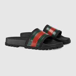 Dép Gucci Web Slide Sandal Màu Đen