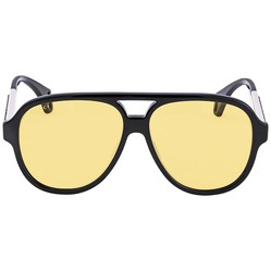 Kính Mát Gucci Yellow Round Men's Sunglasses GG0463S 001 58