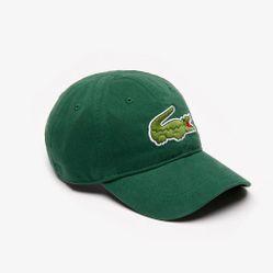 Mũ Lacoste Gabardine Big Crocodile Màu Xanh Lá
