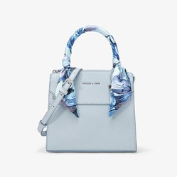 Túi Cầm Tay Charles & Keith Scarf Wrapped Top Handle Bag Ck2-50780817-2 Màu Xanh Blue