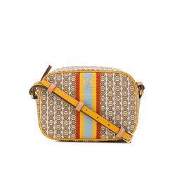Túi Đeo Chéo Tory Burch Gemini Lnk Mini Bag Màu Xám Họa Tiết Vàng