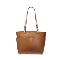 Túi Tote Michael Kors Bedford Pebble Leather Pocket Tote Acorn Màu Nâu