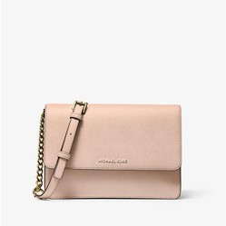 Túi Xách Michael Kors Daniela Large Saffiano Leather Crossbody Bag Màu Hồng