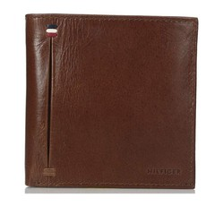 Ví Nam Tommy Hilfiger Men's Leather Wallet - 31TL120001 Màu Nâu