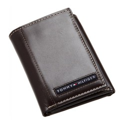 Ví Nam Tommy Hilfiger Mens Cambridge Trifold Wallet Brown 5676/02 Màu Nâu
