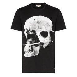 Áo Phông Alexander Mcqueen Skull Print T-Shirt Màu Đen