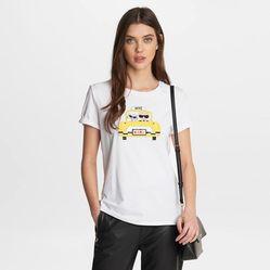 Áo Phông Karl Lagerfeld Taxi Cab Karl Tee Màu Trắng