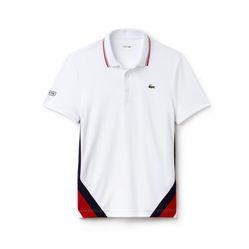 Áo Phông Lacoste Polo Block Pique White Red Màu Trắng Size L