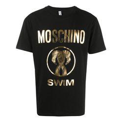 Áo Phông Moschino Logo Printed T-Shirt Màu Đen
