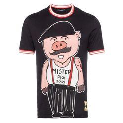Áo Thun Dolce & GabbanaSicily Pig Cotton T-Shirt Màu Đen