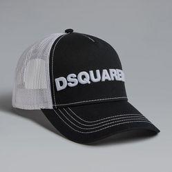 Mũ Dsquared2 Embroidered Baseball Cap Màu Đen - Trắng