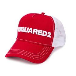 Mũ Dsquared2  Mesh Panelled Trucker Cap Màu Đỏ