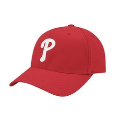 Mũ MLB Philadelphia Phillies Chain Embroidery One-Point Adjustable Cap Màu Đỏ