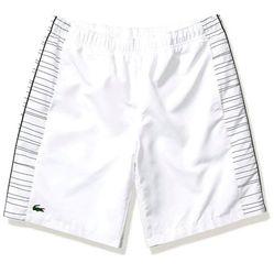 Quần Shorts Lacoste Đùi Vân Diamond Màu Trắng