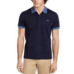 Áo Phông Lacoste Men's Solid Polo Shirt Màu Xanh Navy Size S