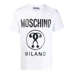 Áo Phông Moschino Double-Question Mark T-Shirt Màu Trắng