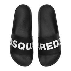 Dép Dsquared2 Logo Rubber Slide Sandals Màu Đen