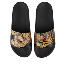 Dép Dsquared2 Tiger Print Slides Màu Đen Size 39