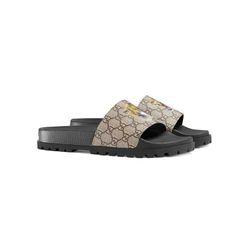 Dép Gucci GG Supreme Tiger Slide Sandal Size 40