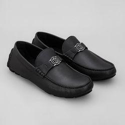 Giày Lười Nam Dior Black Calfskin Mocasin Màu Đen