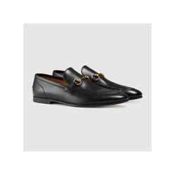 Giày Mocassins Gucci Jordaan En Cuir Màu Đen