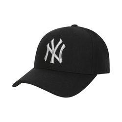 Mũ MLB Unisex Cap New York Yankees Màu Đen Chữ Thêu Chỉ Bạc